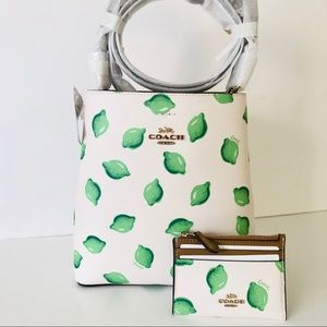 Coach Town Small Bucket Bag Purse Wallet Set Lime